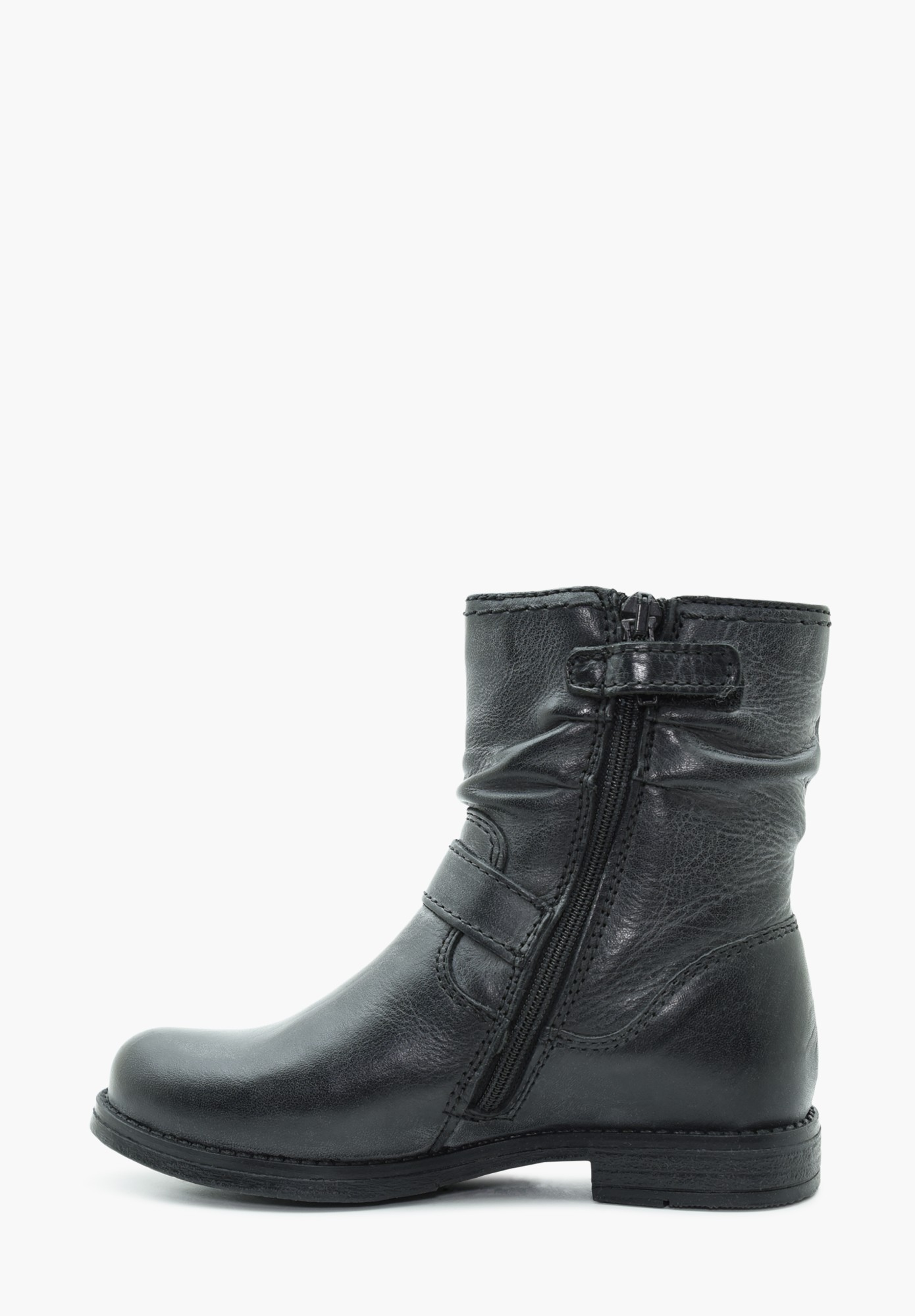 Kinder Mädchen Leder Stiefel Hohe Schuhe Parpan Schwarz