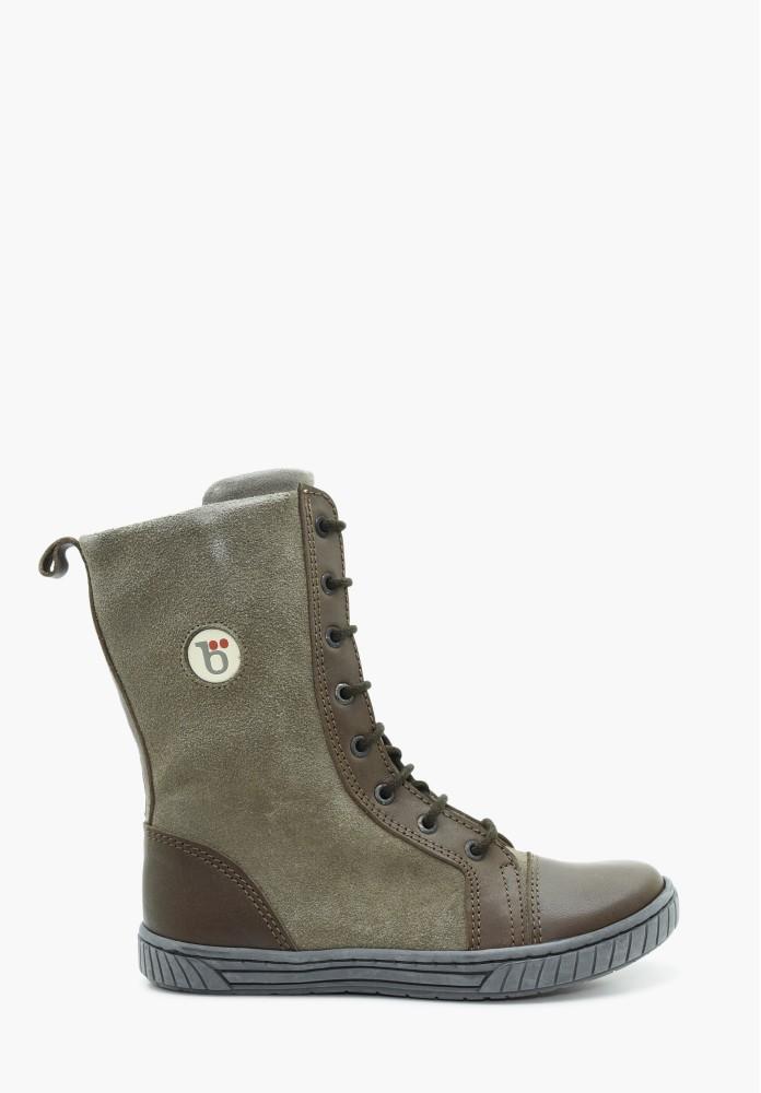 Kinder Jungs und Mädchen Leder Stiefel / Hohe Schuhe