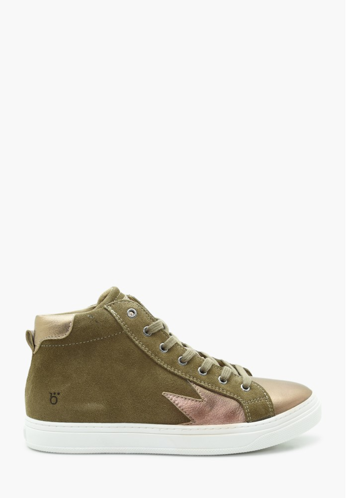 Junior Girl Leather Sneakers