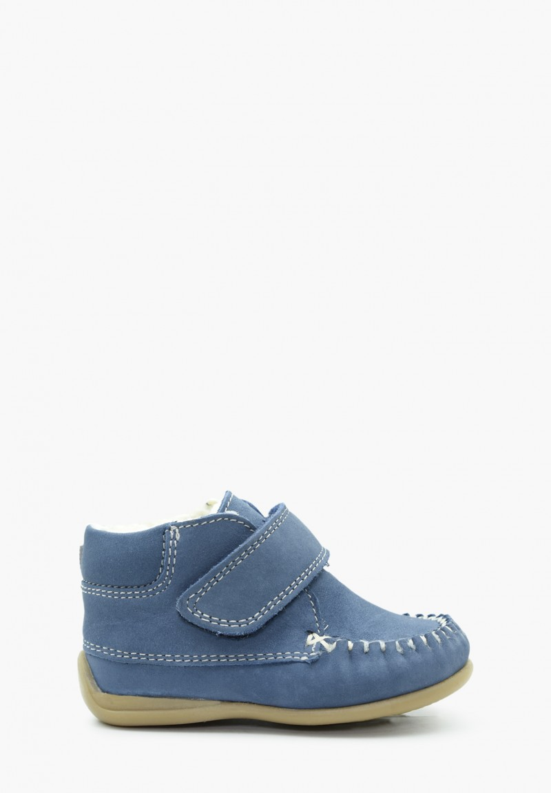 First steps Boy and Girl Virgin wool Loafers