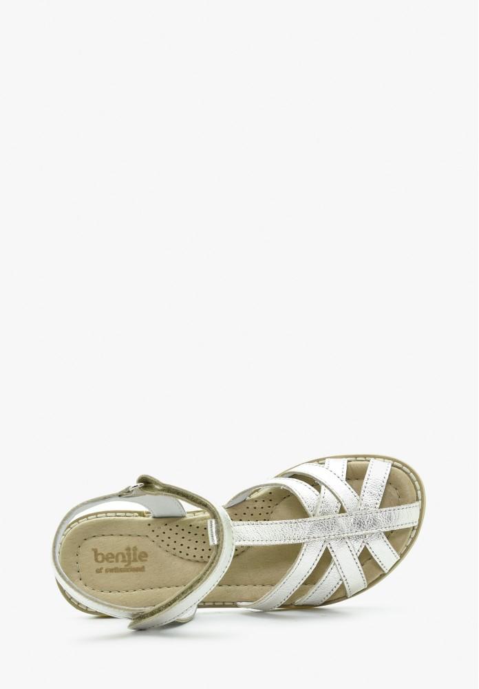 Kinder Mädchen Leder Sandale