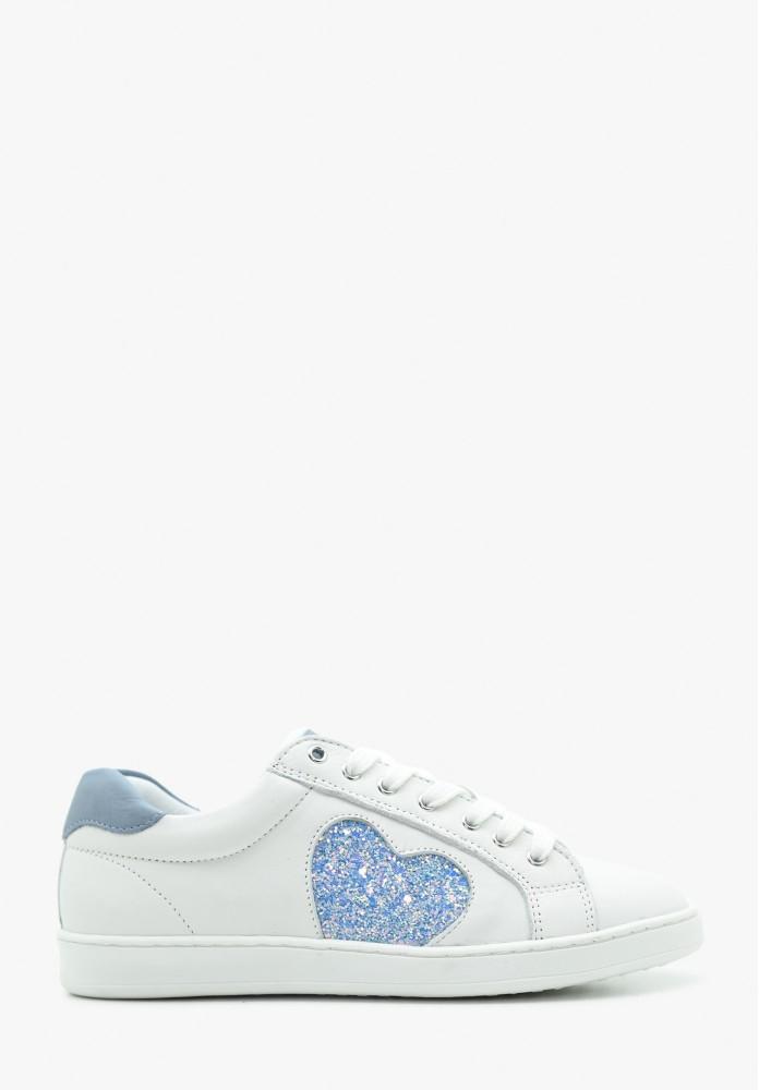 Junior Mädchen Leder Sneaker
