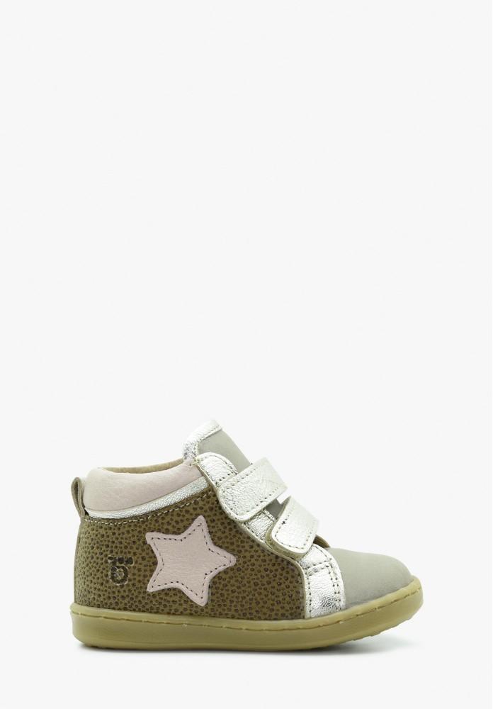 erste Schritte Mädchen Leder Sneaker
